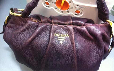 プラダのバッグ 染色補正